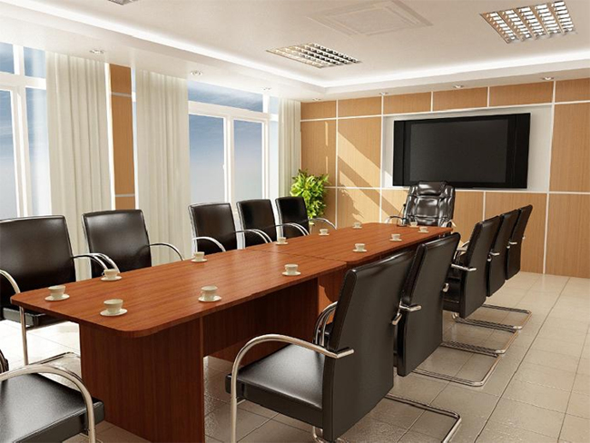 ánh sáng trong phòng họp trực tuyến