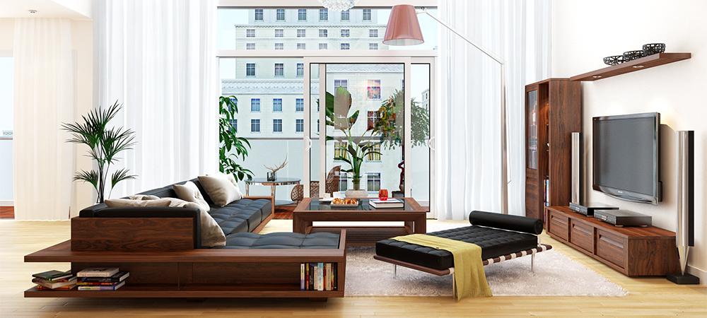 Thiết kế nội thất phòng khách truyền thống