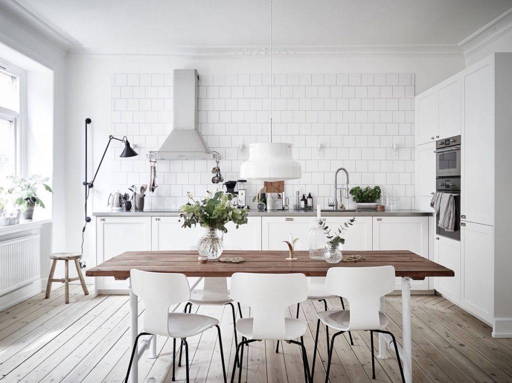 Thiết kế nội thất nhà bếp chung cư Scandinavian