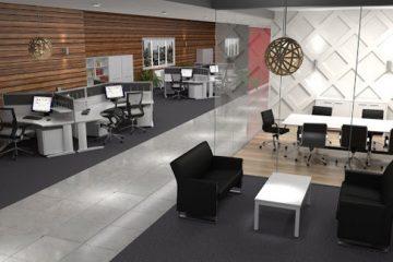 thiết kế văn phòng dện tích nhỏ