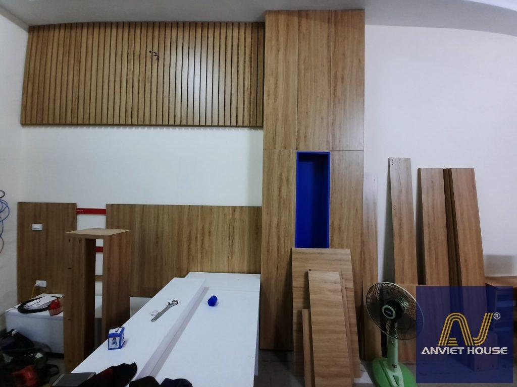 thi công gỗ công nghiệp ốp tường