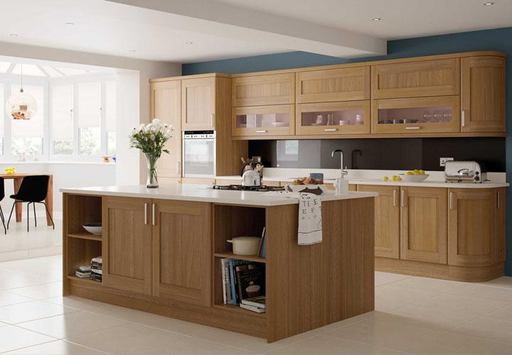 Tủ bếp gỗ sồi trắng
