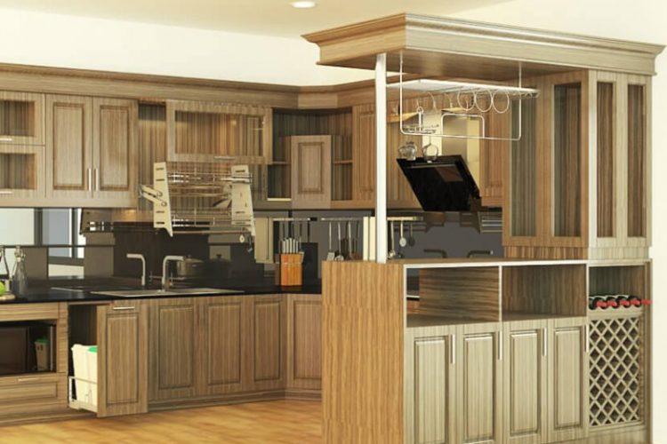 3 Mẫu tủ bếp gỗ tự nhiên hiện đại phổ biến nhất hiện nay