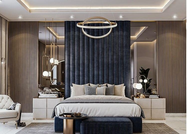 thiết kế nội thất biệt thự đơn lập - phòng ngủ chính