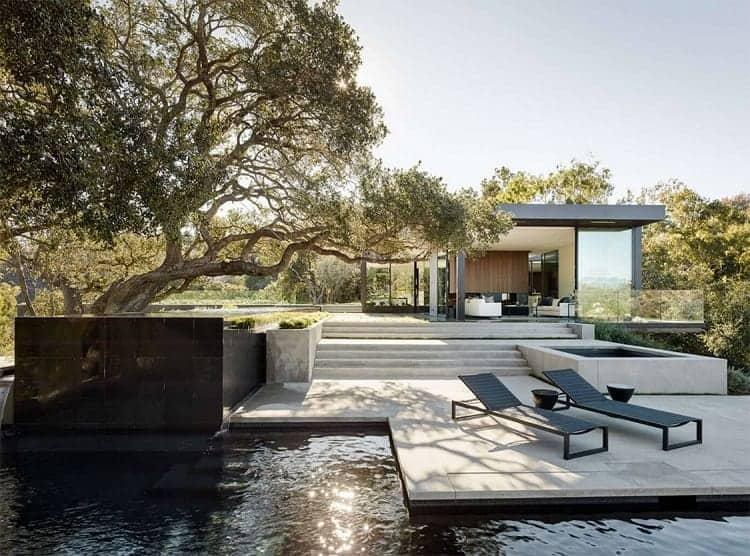 Nội thất biệt thự đẹp nhất thế giới - biệt thự Oak Pass tại Beverly Hills