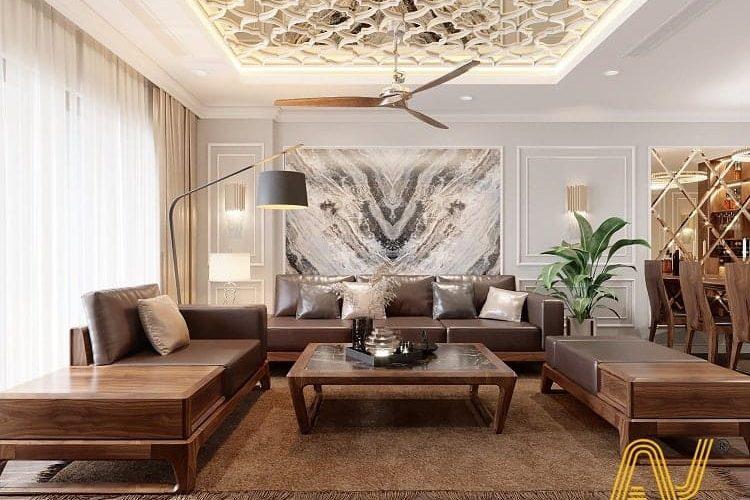 nội thất chung cư cao cấp đơn giản - Sunshine Golden - An Viet House