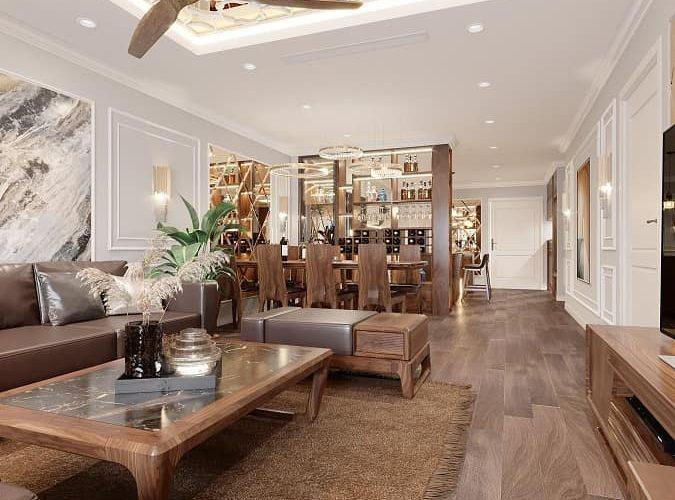 nội thất chung cư cao cấp Sunshine Golden - An Viet House thiết kế