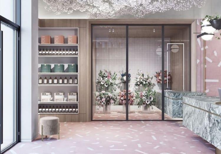 phong cách nội thất cửa hàng hoa