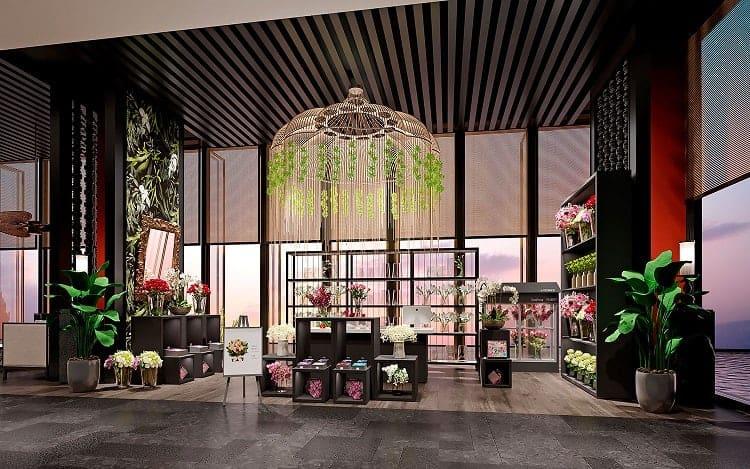 mặt tiền cửa hàng hoa