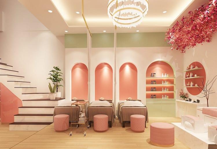 nội thất tiệm nail spa theo phong thủy
