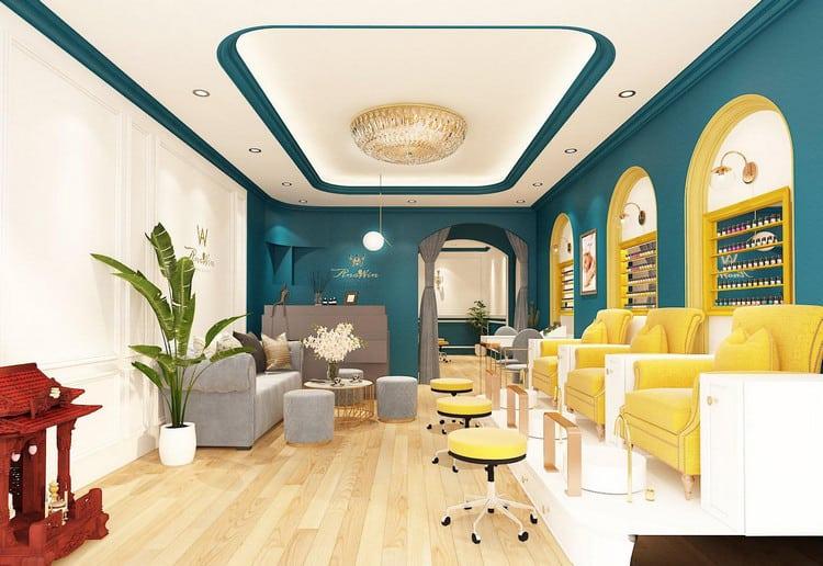 thiết kế tiệm nail spa