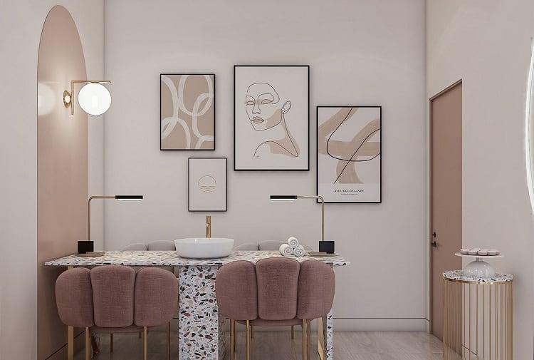 trang trí nội thất spa mini