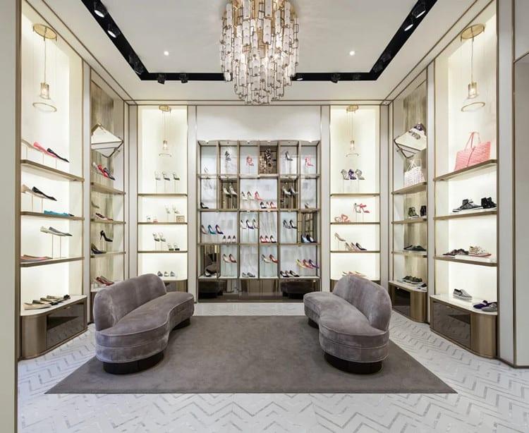 thiết kế nội thất cửa hàng giày dép sang trọng
